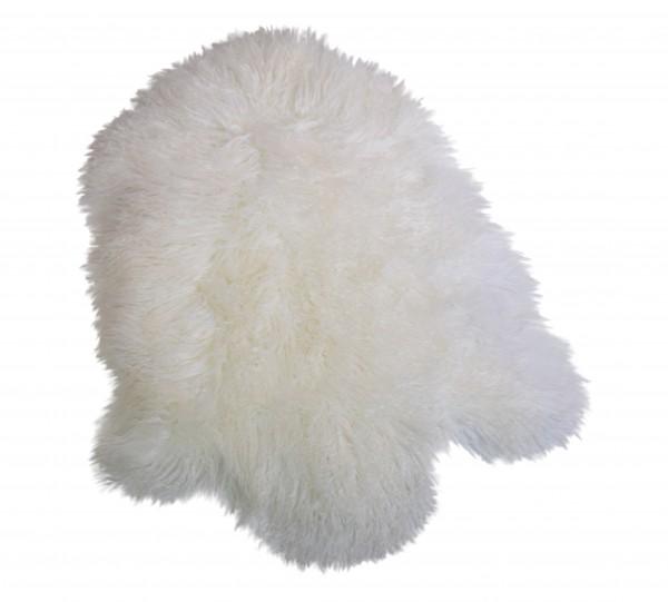 Tibetlammfell, ganzes Fell, 85 - 90 cm, Weiss