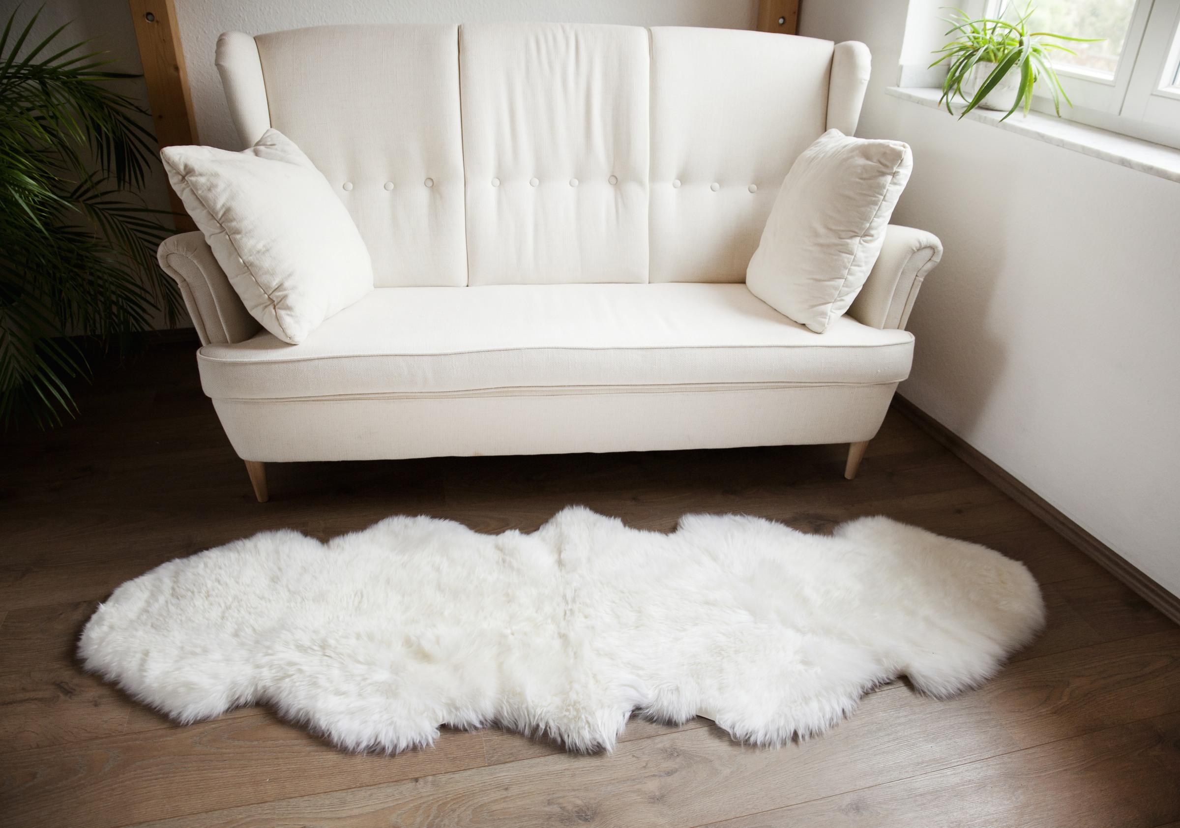 naturasan premium doppel schaffell duo aus 2 fellen wei lammfelle schaffelle felle. Black Bedroom Furniture Sets. Home Design Ideas