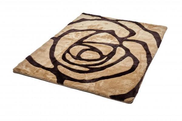 Design Lammfell Teppich 150 x 200 cm, Big Rose, DZL-04