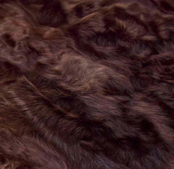 Felldecke Chekiang Lammfell, 200x200 cm, Farbe Braun