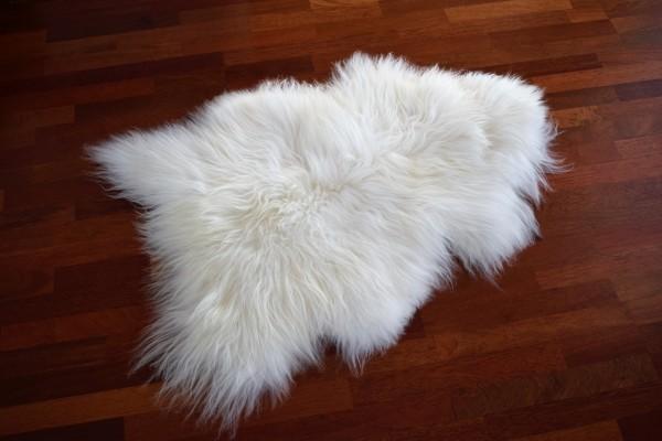 Island Langhaar Lammfell , Farbe Weiß