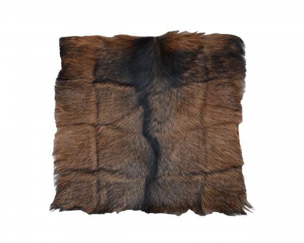 Fellkissen Ziegenfell mit Mittelstreifen, 40 x 40, Patch