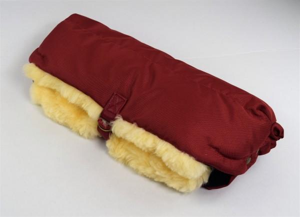 Lammfell Handwärmer für den Kinderwagen, Hand Muff, HW-02, Farbe Rot