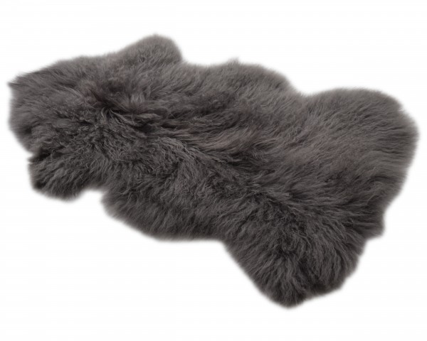 Tibetlammfell, ganzes Fell, 85 - 90 cm, Grau