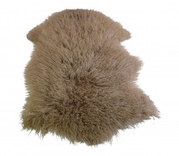 Tibetlammfell, ganzes Fell, 85 - 90 cm, Taupe