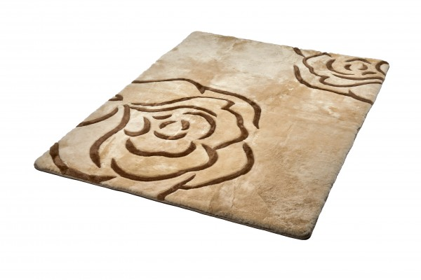 Design Lammfell Teppich 150 x 200 cm, Rose, DZL-01