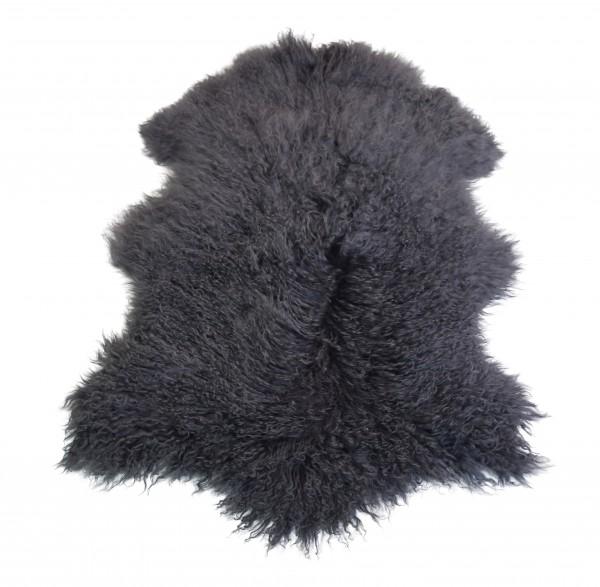 Tibetlammfell, ganzes Fell, 85 - 90 cm, Anthrazit Grau