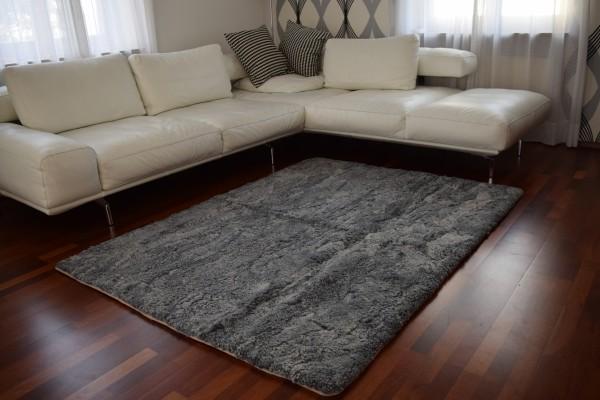 edler curly lammfellteppich 150 x200 in der farbe grau naturasan fellshop. Black Bedroom Furniture Sets. Home Design Ideas