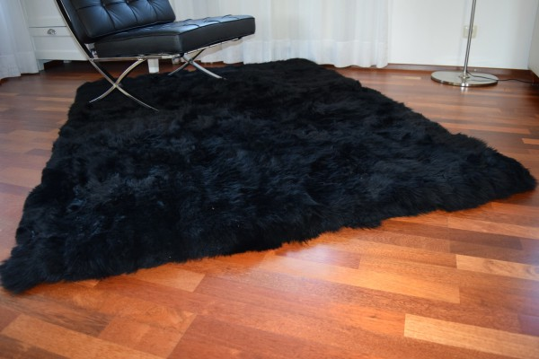 Lammfell Teppich 150 x 200 cm, Hochflor, Langflor, Rechteckig,