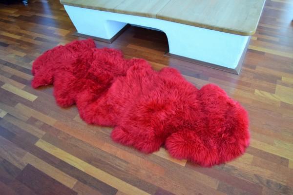 Premium Doppel Schaffell Duo (aus 2 Fellen) Farbe: Rot