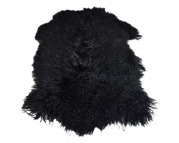 Tibetlammfell, ganzes Fell, 85 - 90 cm, Schwarz